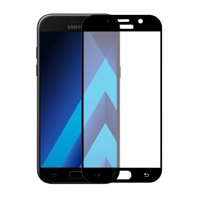 2-Pack Samsung Galaxy A3 2017 Full Cover Screen Protector 9D Tempered Glass Film Gehard Glas Glazen
