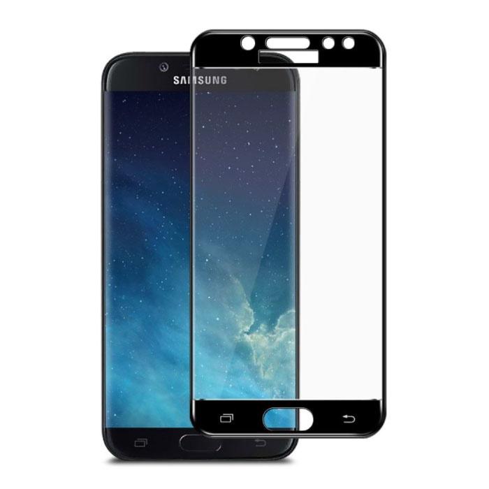 Stuff Certified® 3-Pack Samsung Galaxy J7 2017 Full Cover Screen Protector 9D Tempered Glass Film Gehard Glas Glazen
