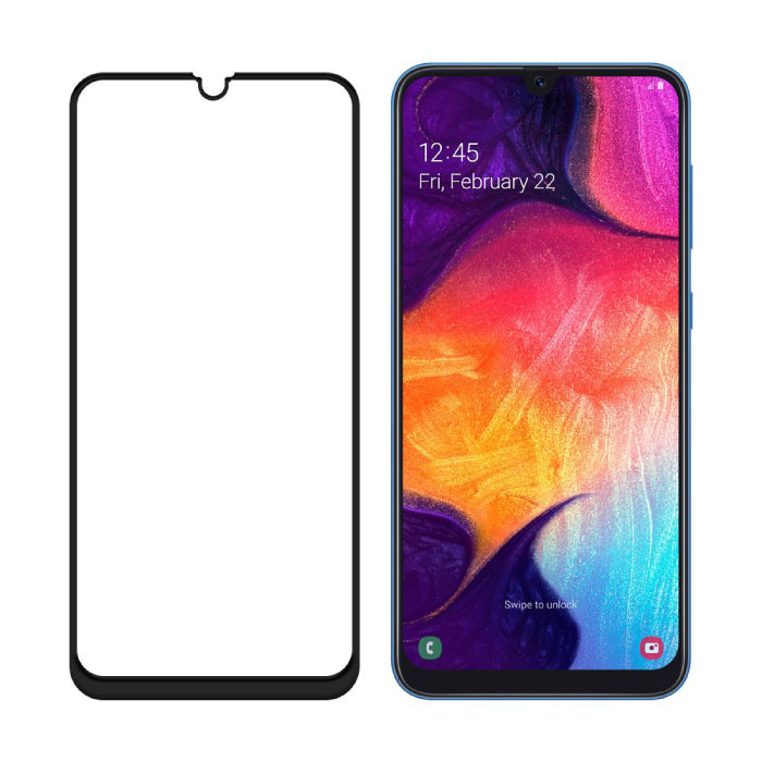 Stuff Certified® 3-Pack Samsung Galaxy A50 Full Cover Screen Protector 9D Tempered Glass Film Gehard Glas Glazen