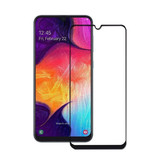 Stuff Certified® 3-Pack Samsung Galaxy A20 Full Cover Screen Protector 9D Tempered Glass Film Gehard Glas Glazen