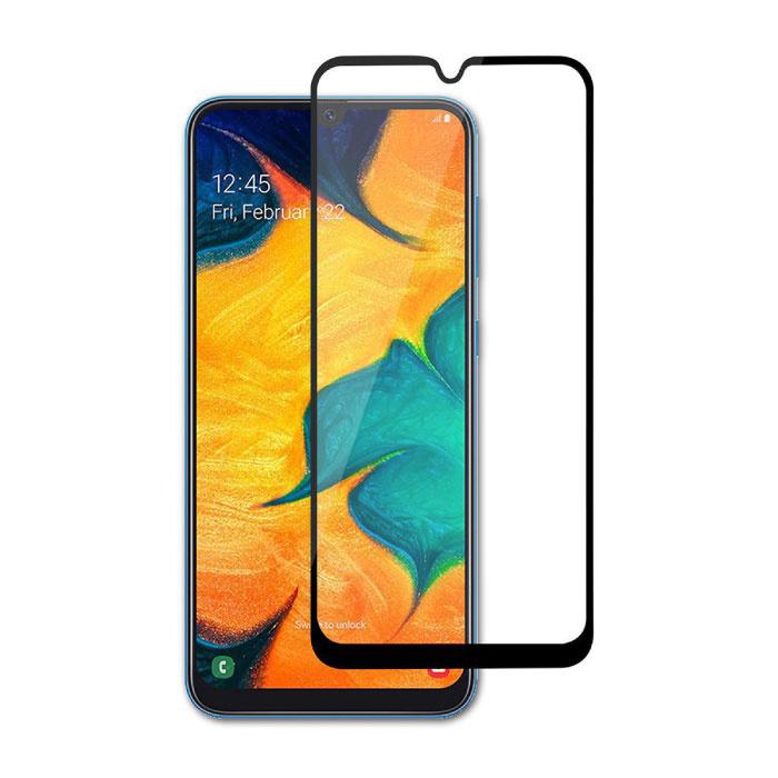 Stuff Certified® 3er-Pack Samsung Galaxy A20 Full Cover Displayschutzfolie 9D gehärtete Glasfolie gehärtete Glasbrille