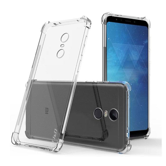 Xiaomi Redmi 5 Plus Transparant Bumper Hoesje - Clear Case Cover Silicone TPU Anti-Shock