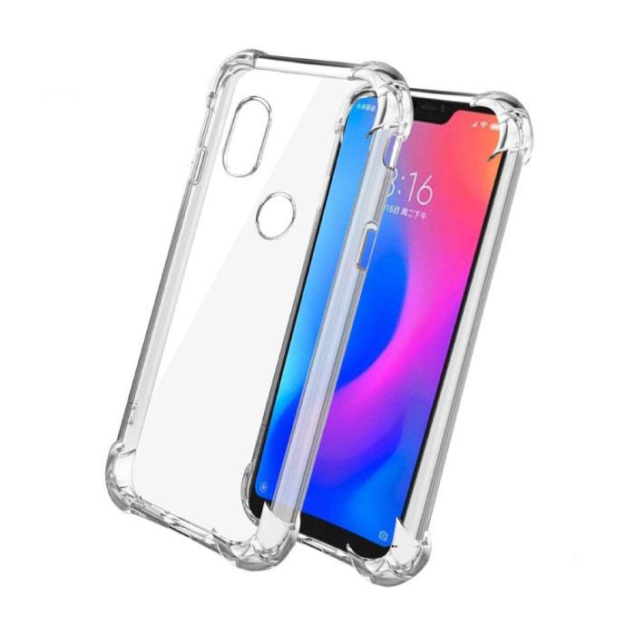Xiaomi Redmi 6 Transparente Stoßstangenhülle - Klare Hülle Silikon TPU Anti-Shock