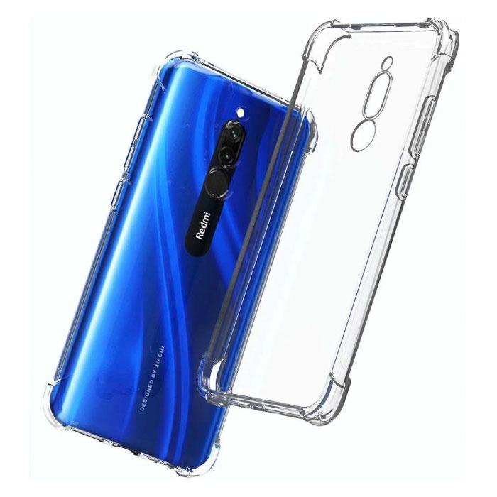 Xiaomi Redmi 8A Transparant Bumper Hoesje - Clear Case Cover Silicone TPU Anti-Shock