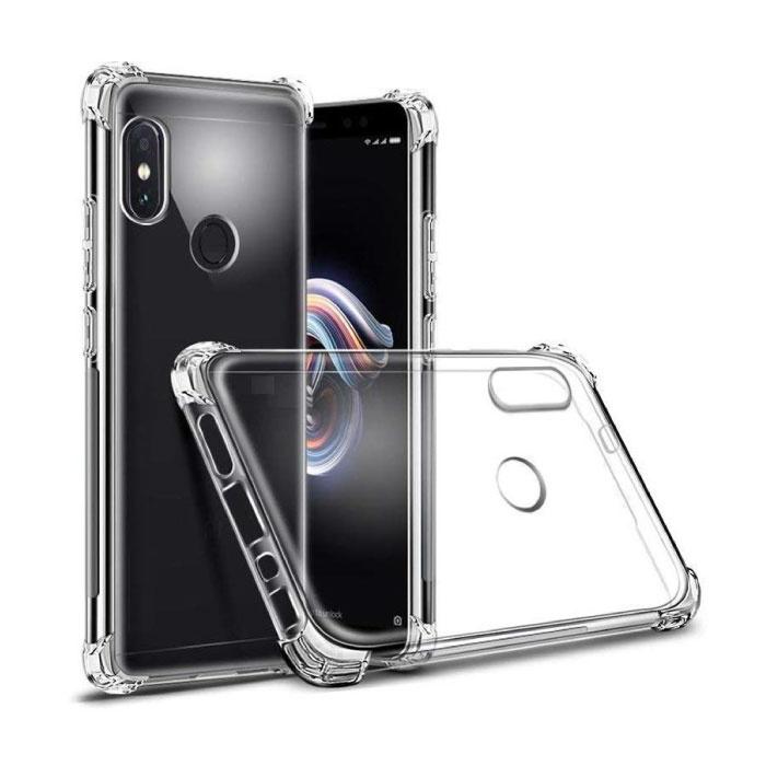 Xiaomi Redmi Note 5 Pro Transparant Bumper Hoesje - Clear Case Cover Silicone TPU Anti-Shock