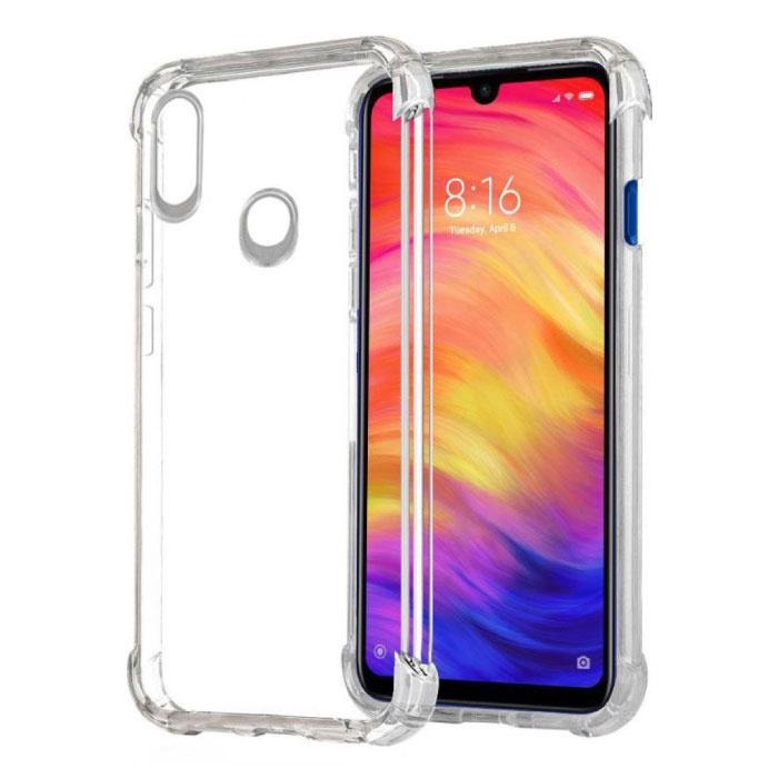 Xiaomi Redmi Note 7 Pro Transparant Bumper Hoesje - Clear Case Cover Silicone TPU Anti-Shock