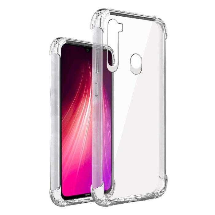 Xiaomi Redmi Note 8 Pro Transparant Bumper Hoesje - Clear Case Cover Silicone TPU Anti-Shock