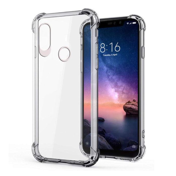 Xiaomi Mi 8 Lite Transparente Stoßstangenhülle - Klare Hülle Silikon TPU Anti-Shock