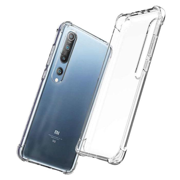 Xiaomi Mi 10 Transparant Bumper Hoesje - Clear Case Cover Silicone TPU Anti-Shock