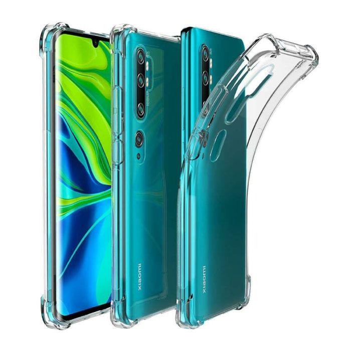 Xiaomi Mi Note 10 Transparant Bumper Hoesje - Clear Case Cover Silicone TPU Anti-Shock
