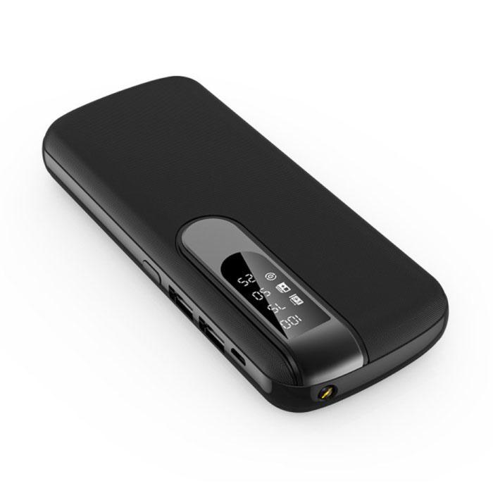 Powerbank 50,000mAh Dual 2x USB Port - Affichage LED et lampe de poche - Chargeur de batterie externe de secours noir