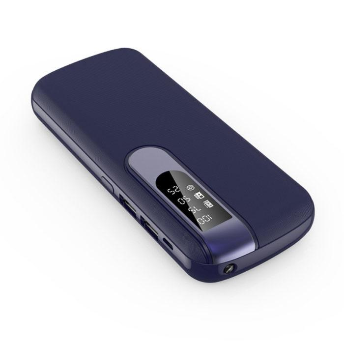 Powerbank 50.000mAh Dual 2x USB Poort  - LED Display en Zaklamp - Externe Noodaccu Oplader Charger Blauw