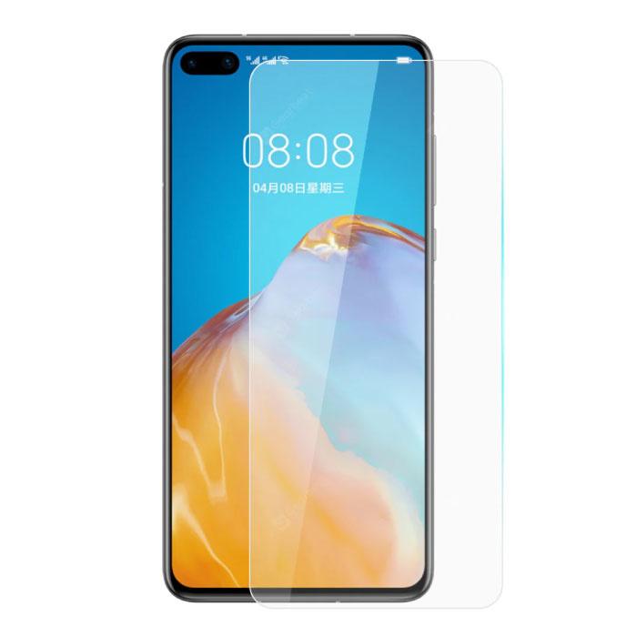 Paquet de 10 verres en verre trempé avec film de protection d'écran Huawei P40 Pro