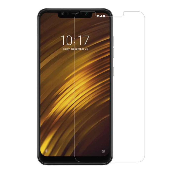 2-Pack Xiaomi Pocophone F1 Screen Protector Tempered Glass Film Tempered Glass Glasses