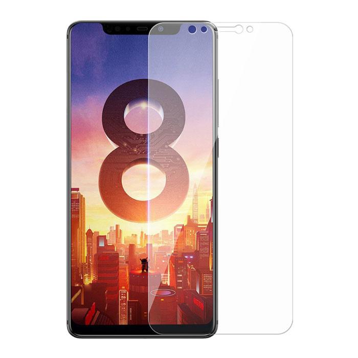 Paquet de 5 verres en verre trempé avec film de protection d'écran Xiaomi Mi 8