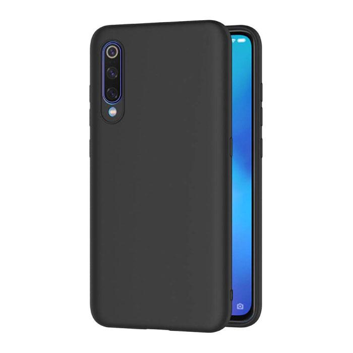 Xiaomi Mi 10 Lite Ultraslim Silicone Hoesje TPU Case Cover Zwart