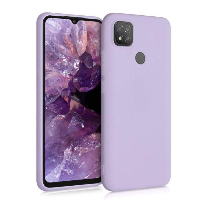 Xiaomi Mi 9 Lite Ultraslim Silicone Hoesje TPU Case Cover Paars