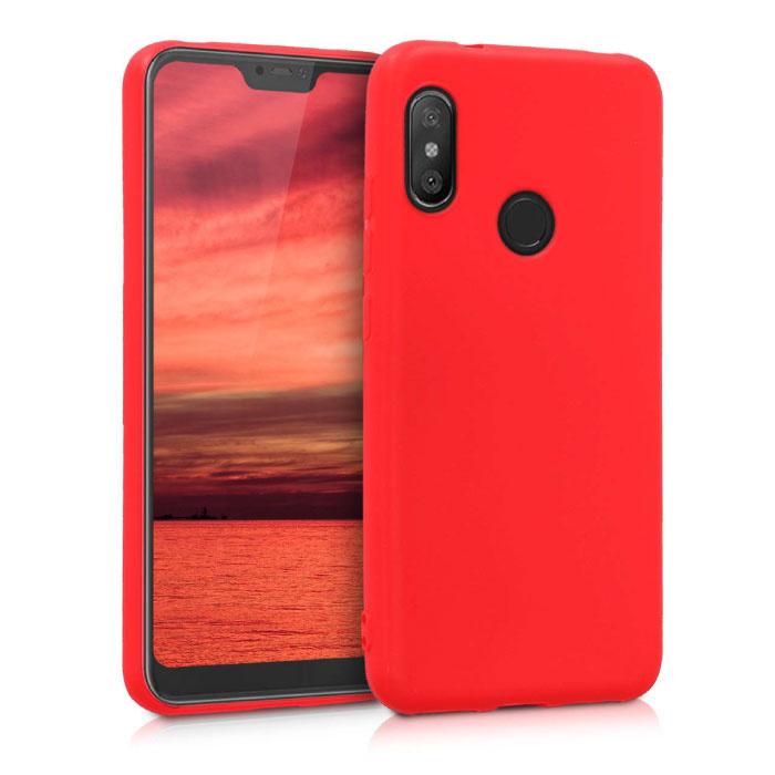Housse en silicone ultra-mince Xiaomi Mi 10 Lite Housse en TPU Rouge