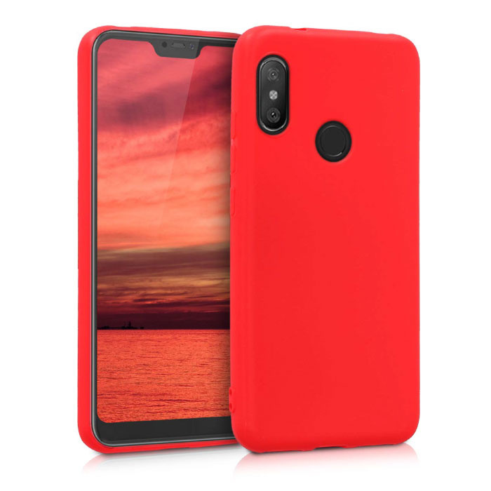 Xiaomi Redmi 9C Ultraslim Silikongehäuse TPU-Gehäuseabdeckung Rot