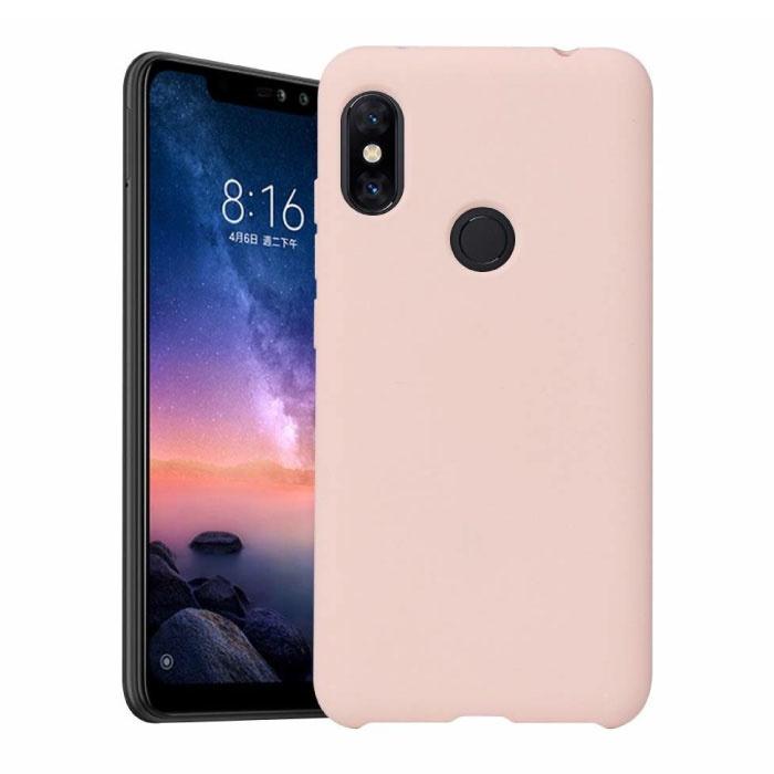 Xiaomi Redmi 9 Ultraslim Silicone Hoesje TPU Case Cover Roze