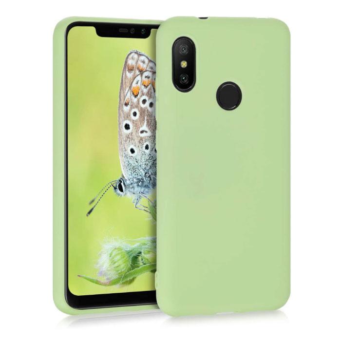 Xiaomi Mi 10 Lite Ultraslim Silikonhülle TPU Hülle grün