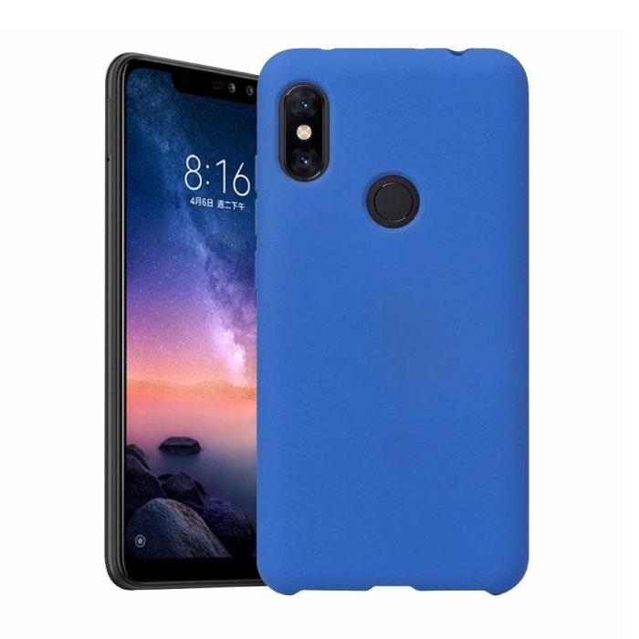 Xiaomi Mi 10 Lite Ultraslim Silikongehäuse TPU-Gehäuseabdeckung Blau