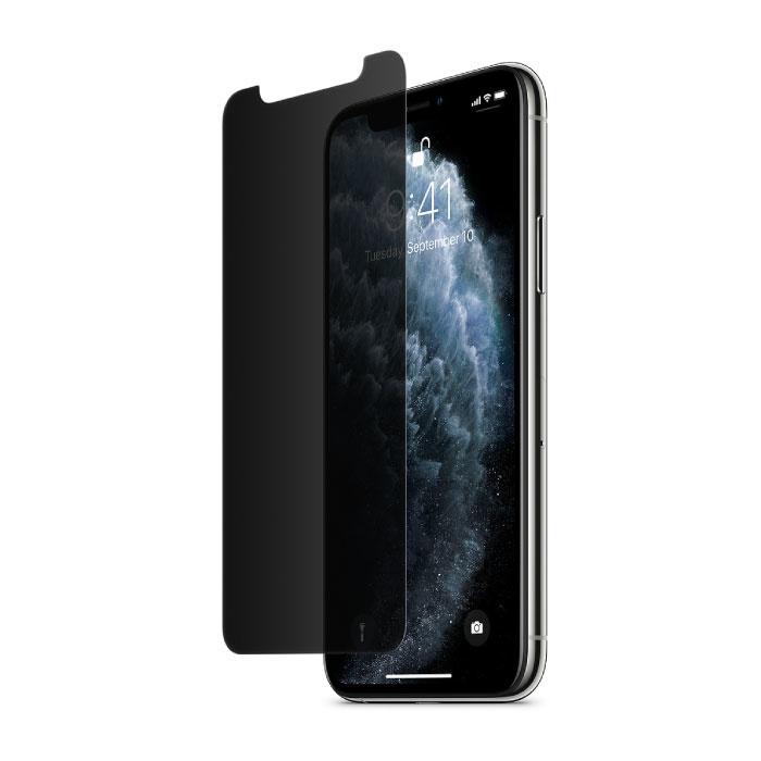 Lunettes en verre trempé de film de verre trempé de protecteur d'écran d'intimité d'iPhone XS