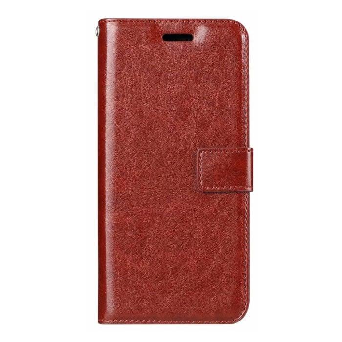 Xiaomi Mi 9 Leder Flip Case Brieftasche - PU Leder Brieftasche Cover Cas Case Rot