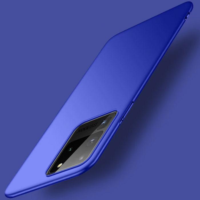Samsung Galaxy S20 Ultra Magnetisch Ultra Dun Hoesje - Hard Matte Case Cover Blauw