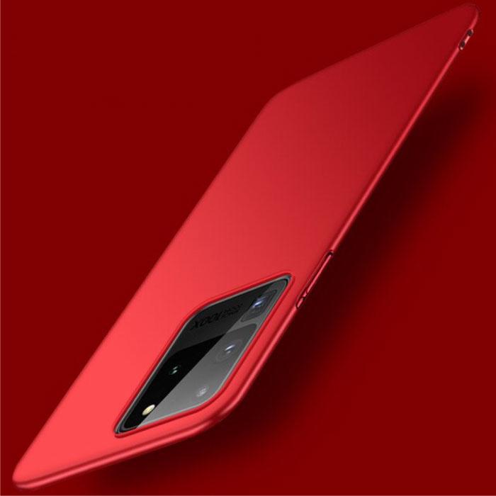 Coque Magnétique Ultra Fine pour Samsung Galaxy S10 - Coque Rigide Matte Rouge