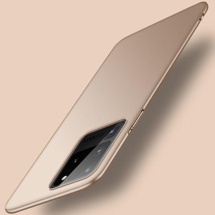 Samsung Galaxy S20 Ultra Magnetisch Ultra Dun Hoesje - Hard Matte Case Cover Goud
