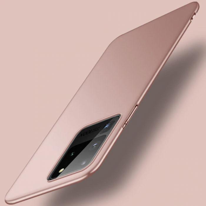 Samsung Galaxy S20 Ultra Magnetisch Ultra Dun Hoesje - Hard Matte Case Cover Roze