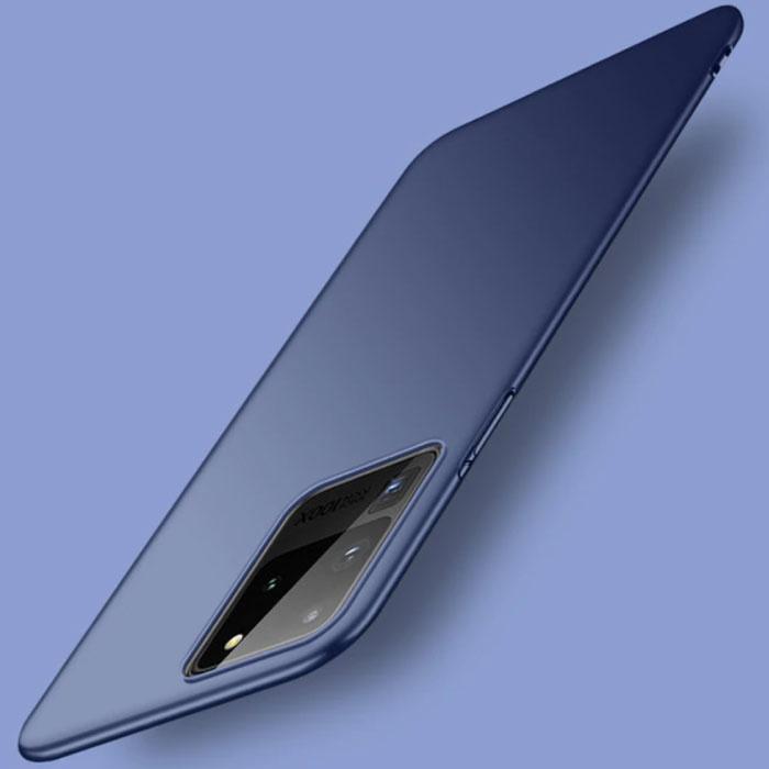 Samsung Galaxy Note 20 Ultra Magnetisch Ultra Dun Hoesje - Hard Matte Case Cover Donkerblauw