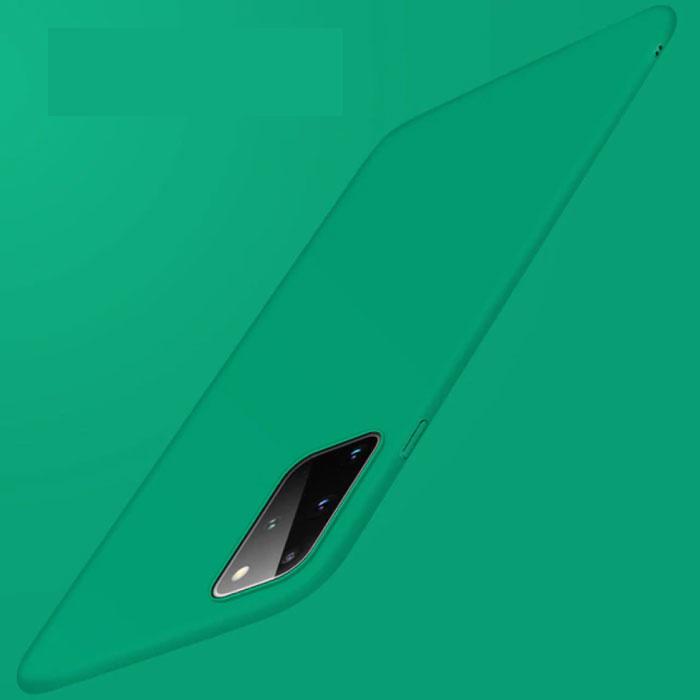 Samsung Galaxy S20 Magnetisch Ultra Dun Hoesje - Hard Matte Case Cover Groen