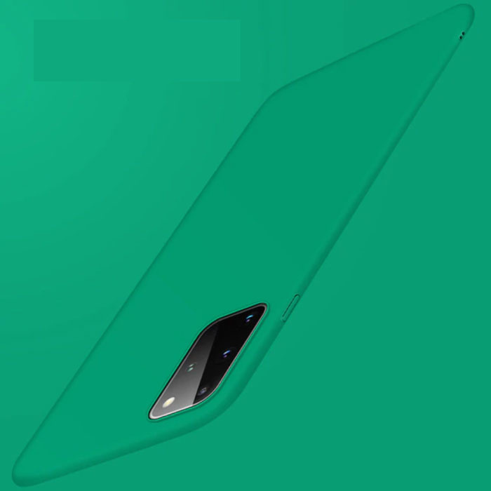 Samsung Galaxy Note 10 Plus Magnetisch Ultra Dun Hoesje - Hard Matte Case Cover Groen
