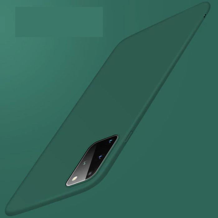 Samsung Galaxy Note 20 Ultra Magnetisch Ultra Dun Hoesje - Hard Matte Case Cover Donkergroen