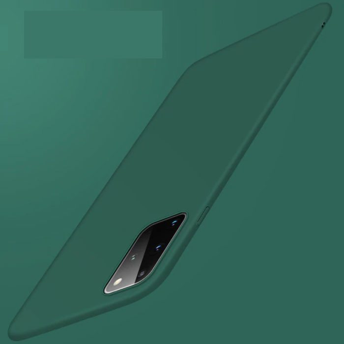 Samsung Galaxy Note 10 Plus magnetische ultradünne Hülle - Hartmatte Hülle dunkelgrün