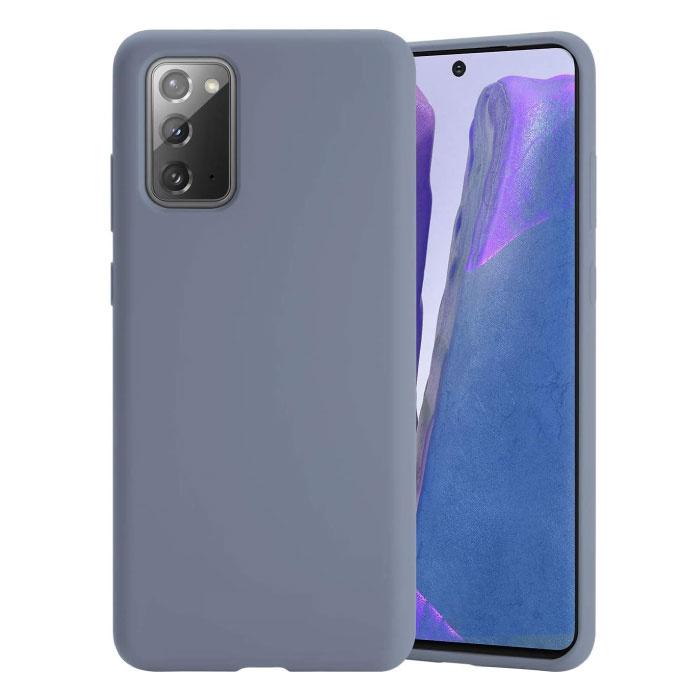 Samsung Galaxy M21 Silicone Case - Soft Matte Case Liquid Cover Gray