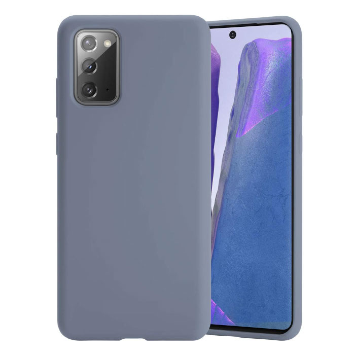 Coque en Silicone Samsung Galaxy Note 20 Ultra - Coque Souple Matte Liquid Cover Gris