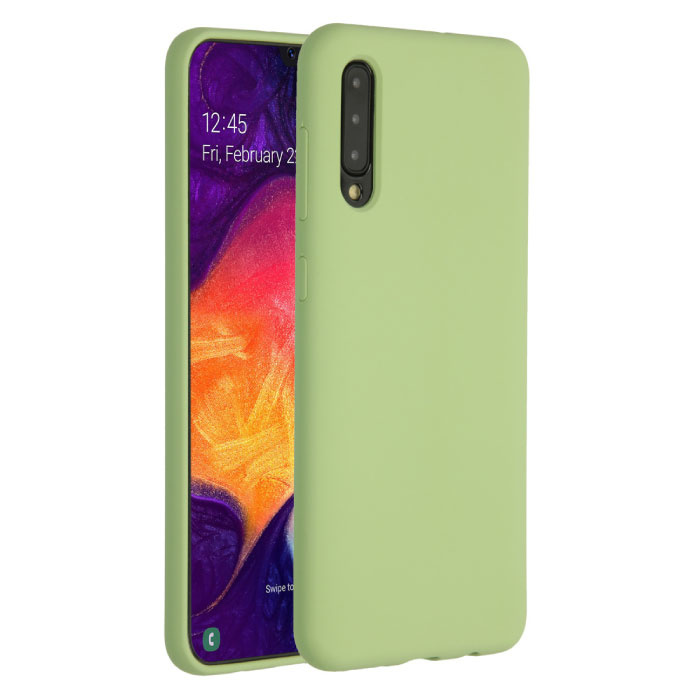 Samsung Galaxy A31 Silicone Case - Soft Matte Case Liquid Cover Green