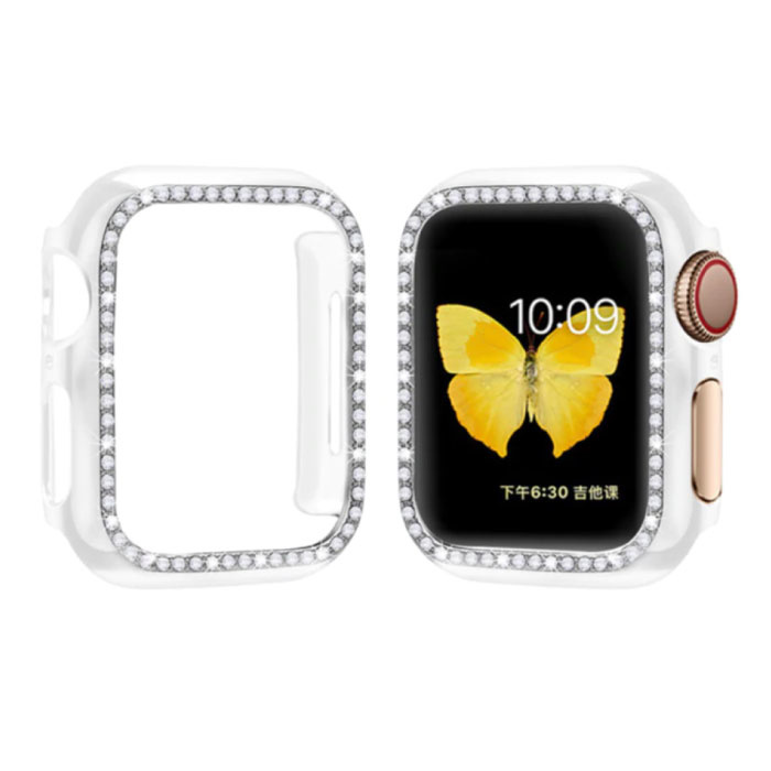 Diamond Case for iWatch Series 44mm - Hard Bumper Case Cover Transparent