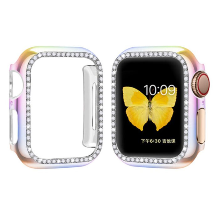 Diamond Hoesje voor iWatch Series 38mm - Hard Bumper Case Cover Kleurenmix