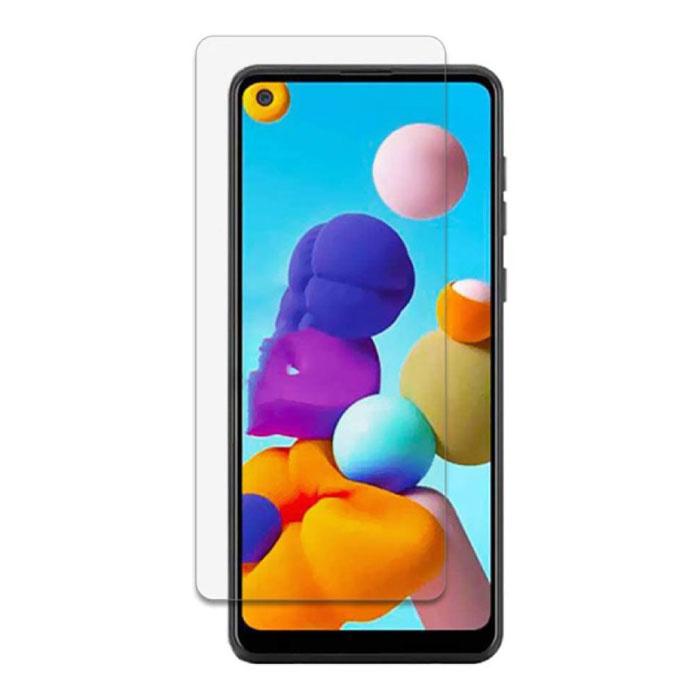 Samsung Galaxy A21 Full Cover Screen Protector 9D Tempered Glass Film Gehard Glas Glazen