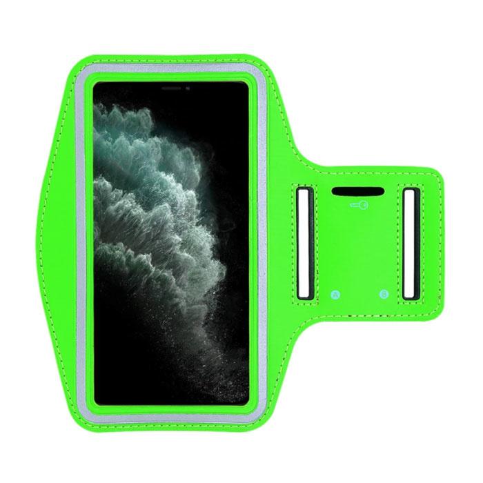 Étui étanche pour iPhone SE 2020 - Pochette de sport Housse de protection Brassard Jogging Running Hard Green