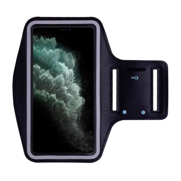 Étui étanche pour iPhone 12 Pro Max - Pochette de sport Housse de protection Brassard Jogging Running Hard Noir