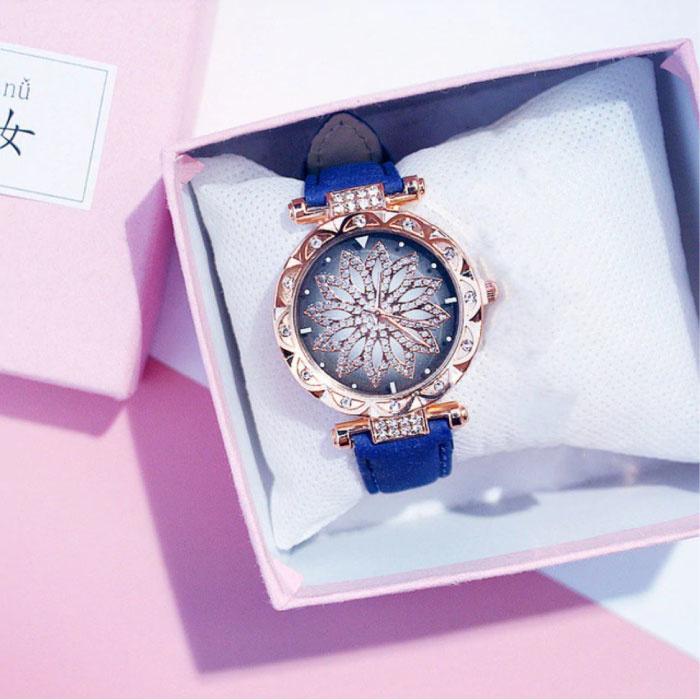 Starry Sky Watch Ladies - Luxus-Anolog-Quarzwerk für Frauen Blau