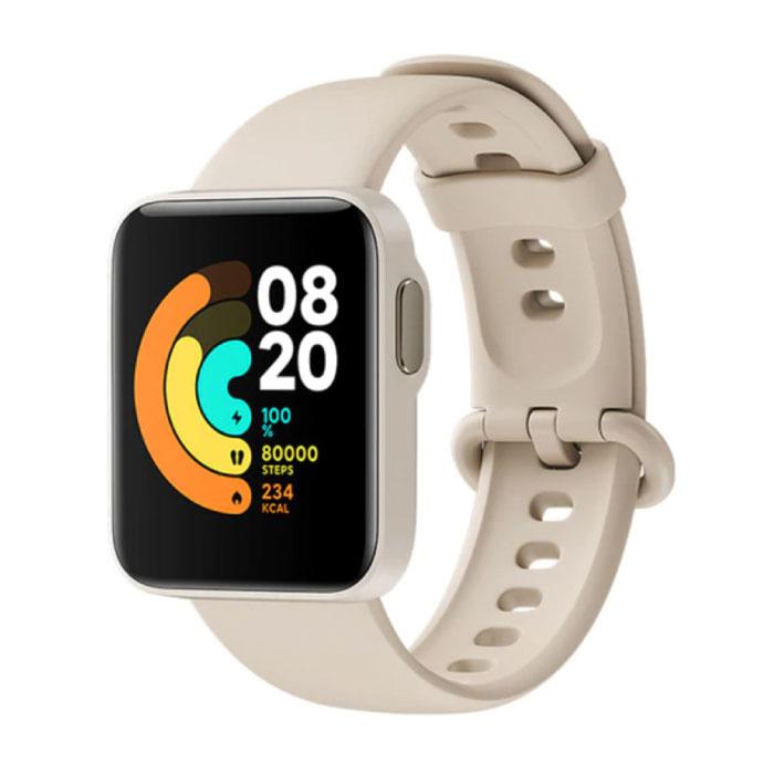 Mi Watch Lite - Moniteur d'activité sportive de remise en forme Smartwatch avec moniteur cardiaque - iOS Android 5ATM iPhone Samsung Huawei Beige