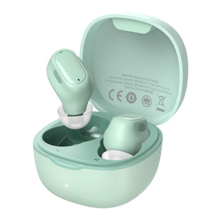 Écouteurs sans fil Encok WM01 - Écouteurs tactiles TWS Bluetooth 5.0 Écouteurs Écouteurs verts
