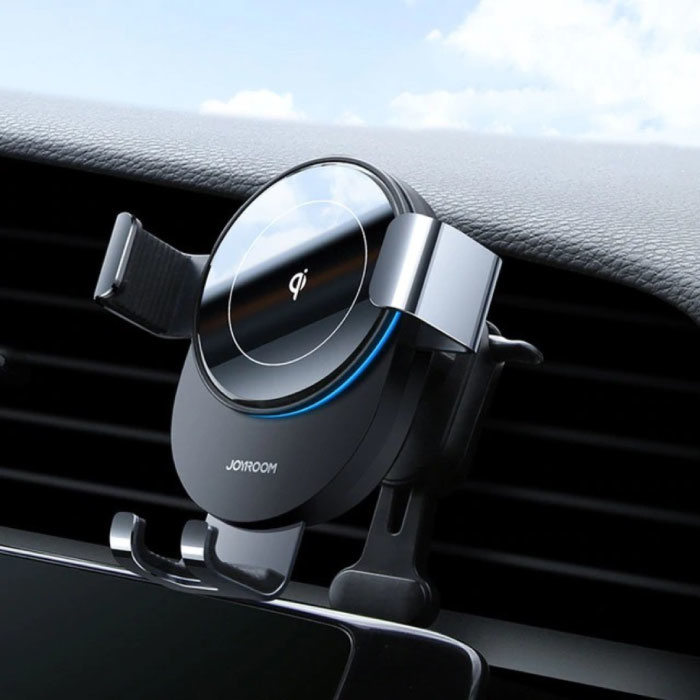 Qi Wireless Car Charger 15W - Quick Charge 3.0 - Airvent Clip Charger Universal Wireless Car Charging Pad Black