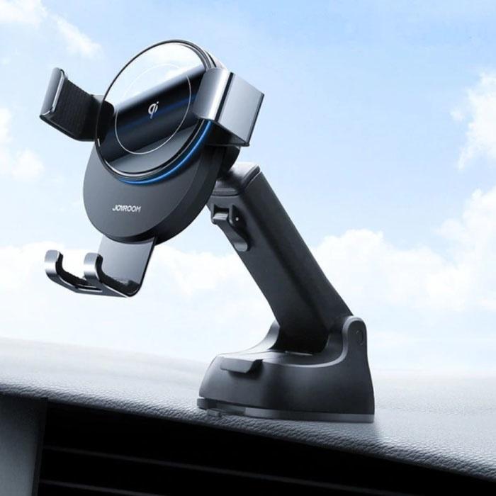 Chargeur de voiture sans fil Qi 15W - Charge rapide 3.0 - Chargeur de support de tableau de bord Chargeur de voiture universel sans fil noir